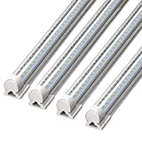 Barrina LED Shop Light, 8FT 72W 9000LM 5000K, Daylight White, V Shape,...