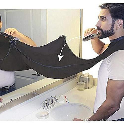 Delantal capa para afeitado barba (Negro)