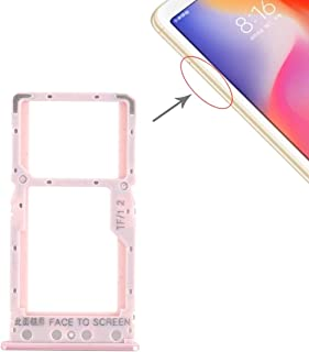 Simple Modern Life Replace SIM Card Tray + SIM Card Tray/Micro SD Card Tray for Xiaomi Redmi 6 / Redmi 6A(Gold) (Color : R...
