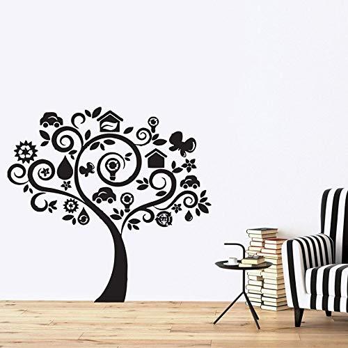 Tatuajes de pared árbol genealógico casa de pájaros niños ramas del hogar dormitorio de los niños decoración del hogar moderno kindergarten vinilo pegatinas de pared
