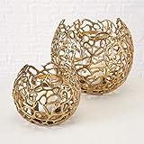 Windlicht Fidan, Set 2, Metall, Gold Set Gesamt: 2 Set; Sortierung: 1 sort.; Metallart: Aluminium; Höhe Set: 17-26 cm; Durchmesser Set: 19-28 cm; Farb
