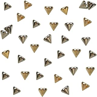 200PCS Silver and Gold Acrylic Bullet Cone Spike Studs Bead, Sew On, Glue On, Stick On by CSPRING