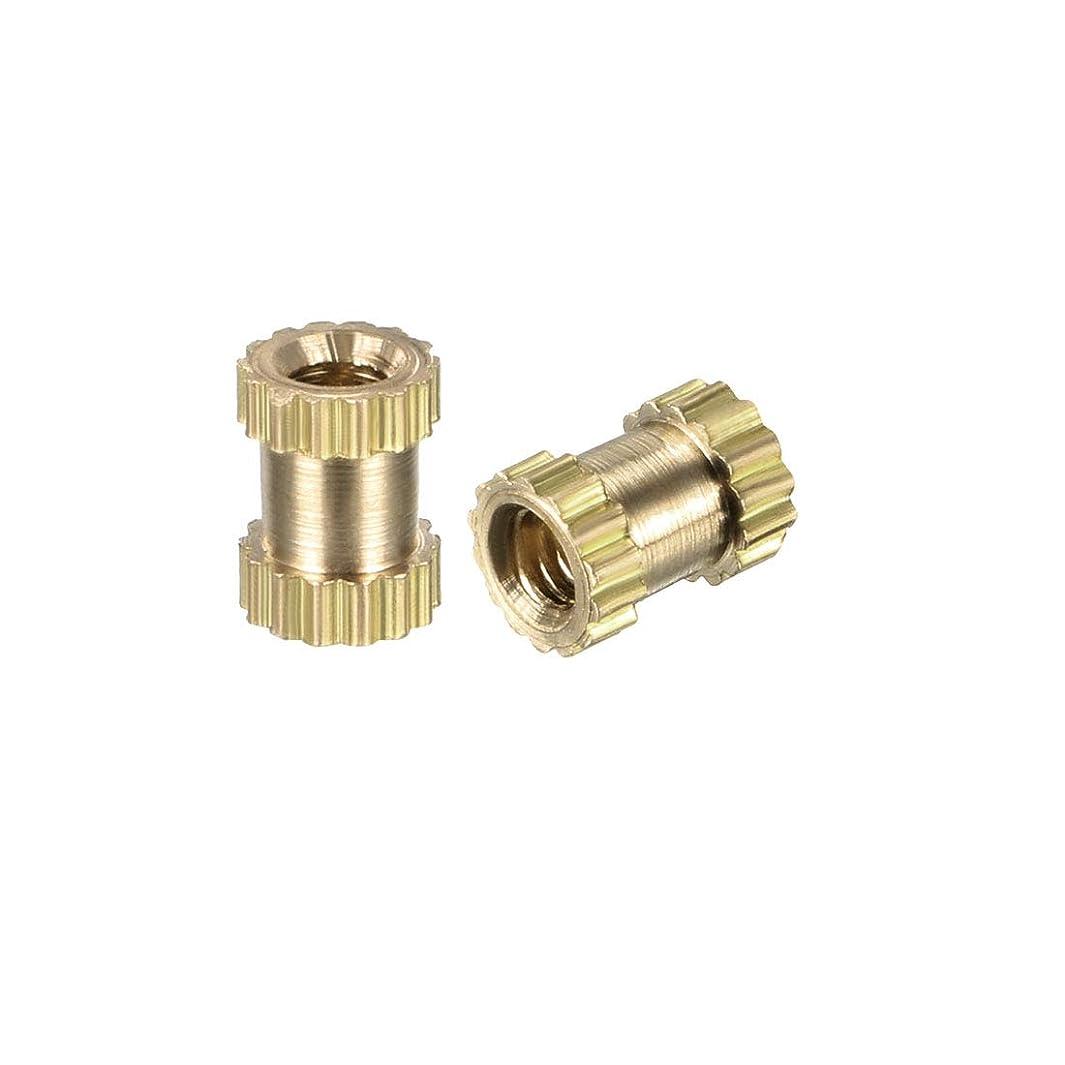 uxcell Knurled Threaded Insert, M2 x 5mm (L) x 3.5mm (OD) Female Thread Brass Embedment Nuts, Pack of 200