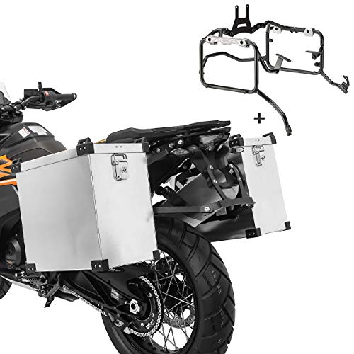 Alu Koffer Set für Yamaha MT-09 Tracer 900 15-17 Namib 2X 40 L + Kofferträger