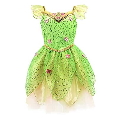 Disney Tinker Bell Costume for Girls – Peter Pan, Size 9/10 Green