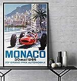 IGNIUBI Geschenk Grand Prix F1 Monaco 1965 Mai Rennwagen