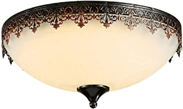 Ceiling Light Lamp Lighting American Country Ceiling Lamp Continental Led Warm Romantic Round Bedroom Ceiling Lamp Study R...
