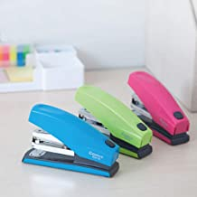 TXYJ Office Stapler,Commercial Desktop Staplers, 25 Sheet Capacity,Small Stapler Size, Fits into The Palm of Your HandStaple Type: 24/6, Green/Pink/Blue(Random Color)