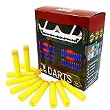 EKIND 100 Pcs 7.2cm TPR Waffles Soft Head Darts Refill Foam Bullet Compatible for Nerf Elite AccuStrike Series Blasters Toy Gun(Yellow)