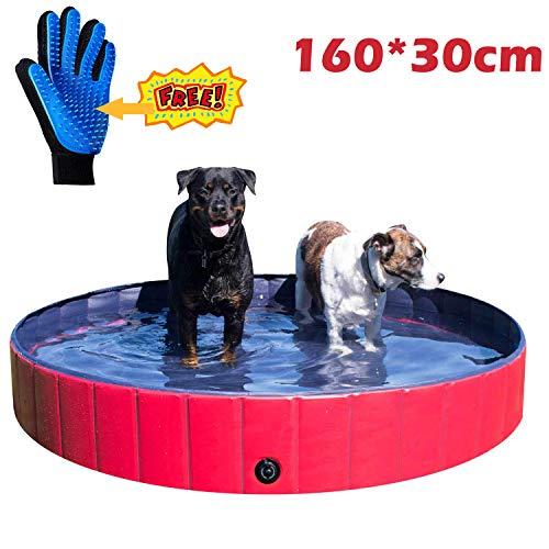JJOBS Opvouwbare badkuip voor honden, katten, huisdieren, zwemmen buiten, PVC-materiaal, XL