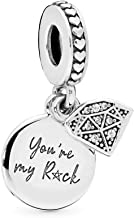 PANDORA My Rock Dangle with 'You're My Rock' Engraving 925 Sterling Silver Charm - 798102CZ