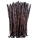 ZGourmeto – Vainas de vainilla de Madagascar - 16 a 18 cm en 5 vainas [min] 17,8g – Vainilla negra salvaje - calidad de Chef – Extracción artesanal