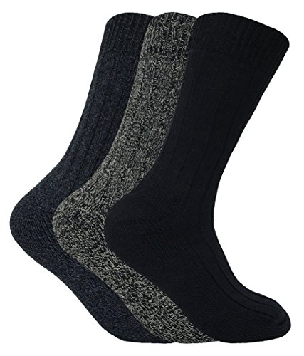 6 paia Sock Shop Gentle Grip Cushion Foot Cotton Socks 39-45 EUR 6-11 UK Motivo misto