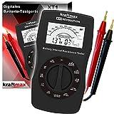 Original kraftmax XT1 Revolution V2 - Batterie und Akku Testgerät der neuesten Generation Im Unterschied zu den meist üblichen Testgeräten kann das XT1 annähernd ALLE Arten von Batterien und Akkus zuverlässig testen und die verbleibende Kapazität in ...