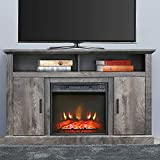 PatioFestival Electric Fireplace TV Stand Entertainment Center Corner Fire Place Heaters Tv Console with Generic Rustic Furniture for TVs up to 42' Wide