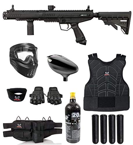 Maddog Tippmann Stormer Tactical Protective CO2 Paintball Gun Marker Starter Package - Black