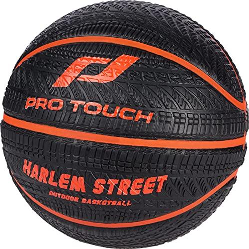 PRO TOUCH Harlem 300 - Balón de Baloncesto, Color Negro y Naranja, 7