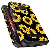 Moto Z2 Force Case Shockproof, Miss Arts Slim Anti-Scratch Protective Kit with [Drop Protection] Heavy Duty Dual Layer Hybrid Sturdy Armor Cover Case for Moto Z2 Force (2017) -Sunflower