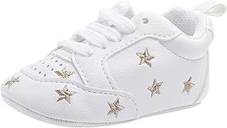 Baoblaze Summer Baby Girls Kids Anti-Slip Crib Shoes Soft Sole Shoes - Golden Star, 6-12 Months