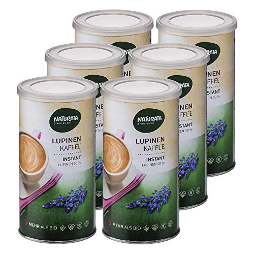 NATURATA Lupinenkaffee, instant, Dose, 6x 100g