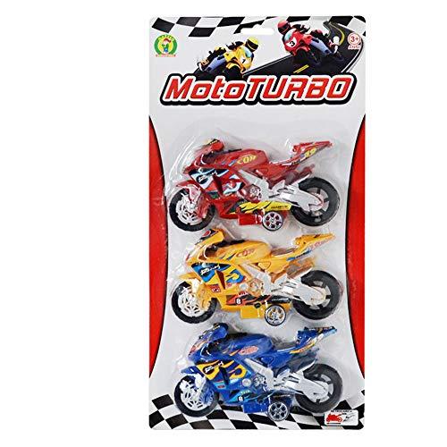 Mazzeo Giocattoli Modellini di Moto da Corsa 3 Moto Turbo