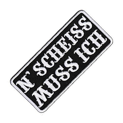 Lucky Patches, Aufnäher, Applikation, Aufbügler, Iron on Patch - Lustige Biker Sprüche, Witzige Motorrad Sprüche, Rocker, Heavy Metal - 4 x 9 cm