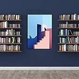 Póster de pintura de gato, póster de sombra de gato, póster de gato, póster de puesta del sol, póster de decoración de pared, póster de lienzo para regalo, decoración del hogar sin marco de 61 x 91 cm