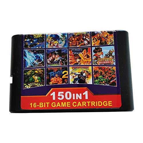 Cartucho de Juego 150 en 1 Tarjeta de Juego de 16 bits para Consola Sega Mega Drive Genesis