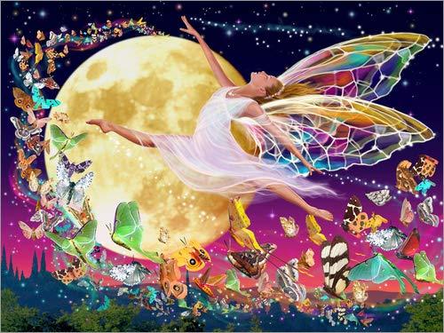 Posterlounge Cuadro de Aluminio 40 x 30 cm: Moon Fairy de Garry Walton/MGL Licensing