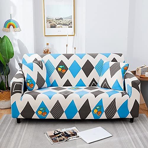 WXQY Funda de sofá con impresión para Sala de Estar, Funda de sofá elástica Antideslizante, Funda de sofá Envuelta herméticamente Funda de sofá A1 2 plazas