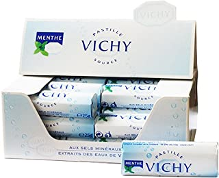 Vichy Pastilles Mints Display Case 24 Rolls of 25 g (Pack of 24)