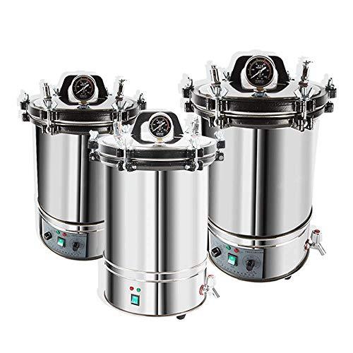 hzexun Autoclave Edelstahl-Dampfsterilisator Sterilisation Schrank Edelstahl für zahnärztliche medizinische Geräte (Normal,18L)