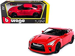 NEW 1:24 W/B BBURAGO PLUS COLLECTION - RED 2017 Nissan GT-R R35 Diecast Model Car By Bburago