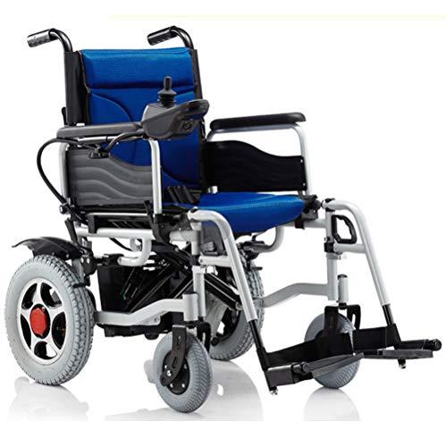 DREAMyun Elektrorollstuhl Faltbar, 360 ° Joystick 500W/24V Lithiumbatterie Elektro Mobilitätshilfe Elektrischer Rollstuhl, Tragbare Ältere Behinderte Hilfe Auto,Kann ins Flugzeug steigen