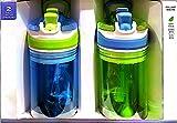 Contigo Kids 2-in-1 Snacker Water Bottles 2-Pack (Blue & Green)