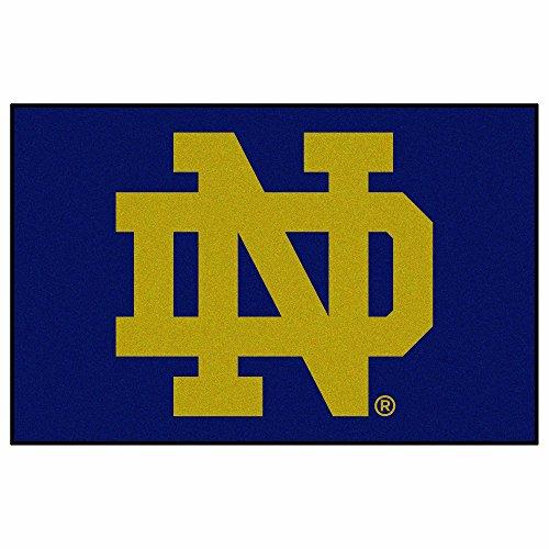 FANMATS - 4412 NCAA Notre Dame Fighting Irish Nylon Face Starter Rug,Multi-colored,19'x30'