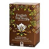 English Tea Shop Chocolate, Rooibos & Vainilla Orgánico Naturalmente Sin Cafeína / Rooibos Té orgánico con chocolate y vainilla Naturalmente sin cafeína Concesión de té Colección elegida a mano por Sri Lanka - 1 x 20 sobres (40 gramos)