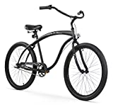 Firmstrong Bruiser Man 3-Speed Beach Cruiser Bicycle, 26-Inch, Matte Black