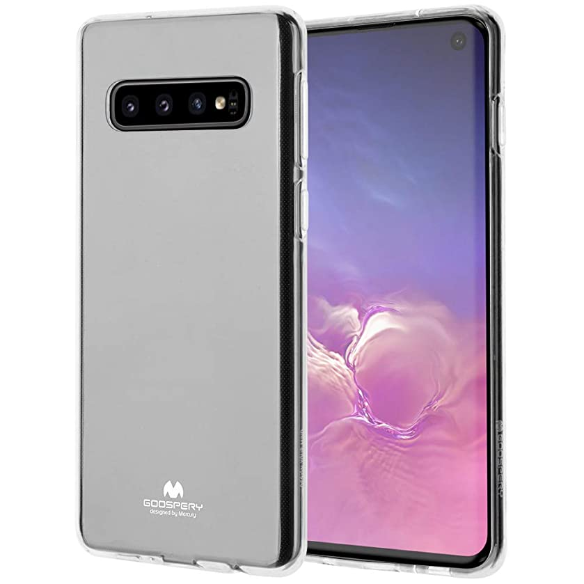 Galaxy S10 Case, GOOSPERY [Slim Fit] Crystal Clear Jelly [Flexible] Rubber TPU Case [Lightweight] Bumper Cover (Clear) S10-JEL-CLR