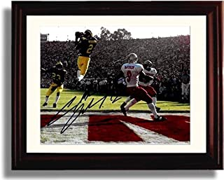Framed Michigan Wolverines - Charles Woodson Heisman Int Autograph Replica Print