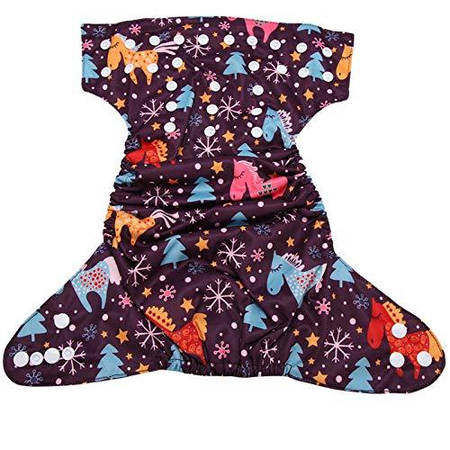 Wosune Pañal Reutilizable Infantil, pañal Reutilizable de la natación del bebé para Llevar a su bebé para Llevar al bebé(BL027)