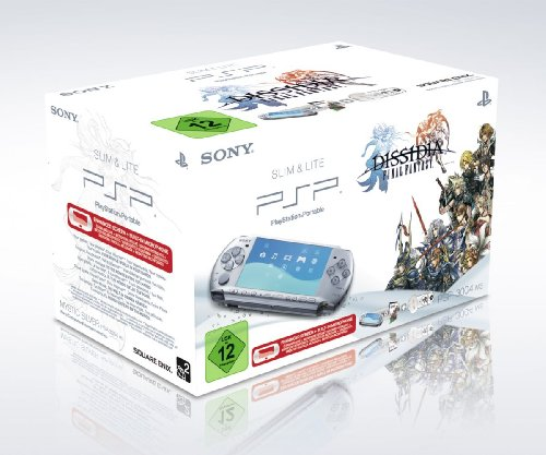 PlayStation Portable - PSP Konsole Slim & Lite 3004, silber inkl. Dissidia Final Fantasy