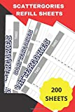 Scattergories Refill Sheets: 200 Paper Sheets Scattergories in Handy Size 6x9 inch