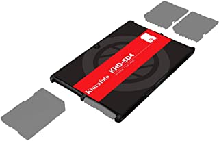 Kiorafoto Khd-Sd4 Slim Credit Card Size Durable Lightweight Portable Sd Memory Card Case Storage Holder Protector For 4 Sd...