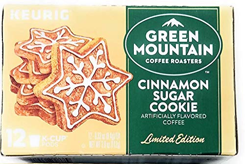 Green Mountain Cinnamon Sugar Cookie Limited Edition Keurig K Cup ~ 12 pods