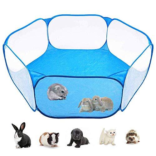 Benrise kleine dierlijke hek Tent Wave bal hek zeshoekige mesh speelgoed opvouwbare kleine huisdier kooi tent voor Guinea varken, konijn, hamster, schildpad, egel, pop, kat buiten/binnen sport hek