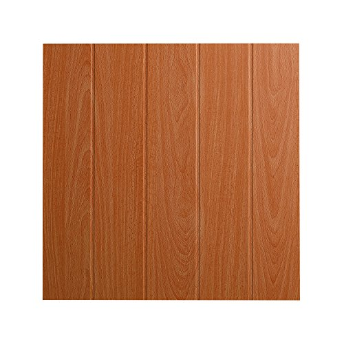DECOSA Deckenplatten ATHEN in Holz Optik - 16 Platten = 4 m2 - Deckenpaneele in Buche Dekor - Decken Paneele aus Styropor - 50 x 50 cm