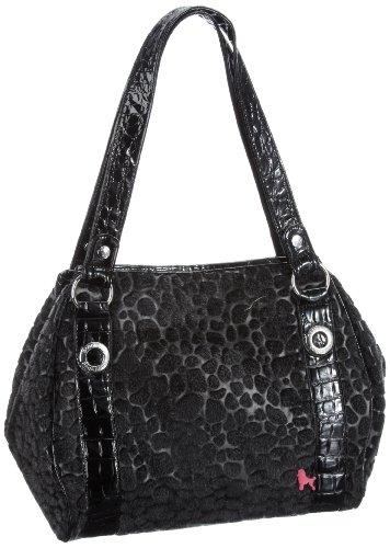 Poodlebags Damen Funkyline - noble&smart - Tuesday Shopper, Schwarz (black), 34x30x18 cm