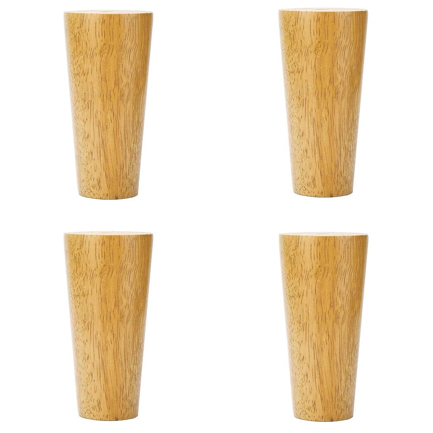 ミュウミュウ渦農業の頑丈なソファ家具の足、手磨き、自然な風合い、ステンレス鋼の留め具、ゴム製木材の支持足(4)
