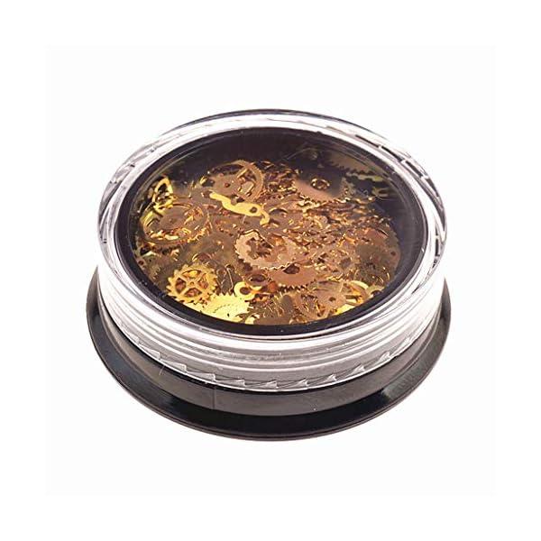 Tebatu Jewelry Accessories,Mini Mixed Steampunk Cogs Gear Clock Charm UV Frame Resin Jewelry Fillings 2 Box 5